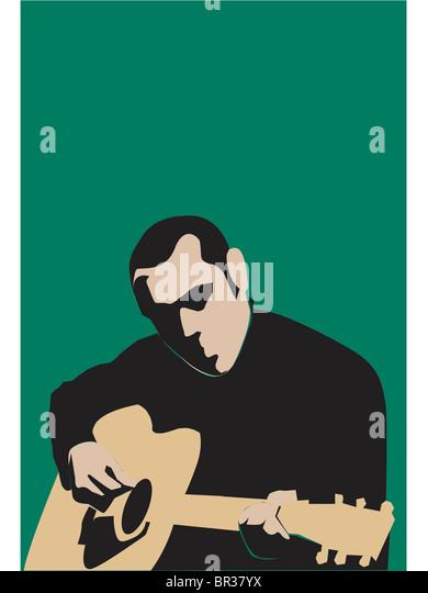 Ein Mann, die Gitarre zu spielen Stockbild