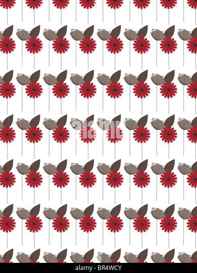 Ein dekoratives Muster bestehend aus Blume Illustrationen - Stock-Bilder