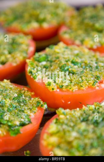 Gefüllte Tomaten Stockbild