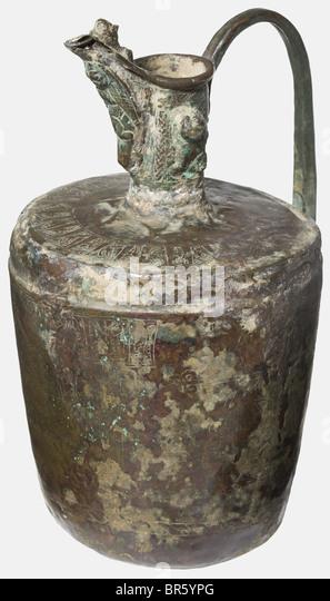 Eine gravierte Khorasan Bronze Ewer, nordöstlichen Persien, ca. 1200 konische Körper unter einem zylindrischen Stockbild