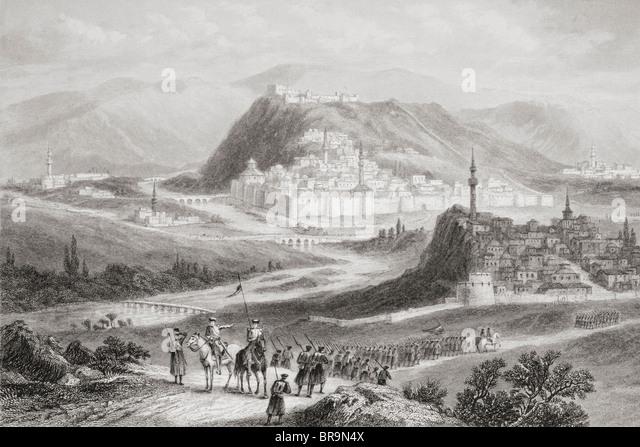 Kars, Türkei, vom Druck des 19. Jahrhunderts. Stockbild