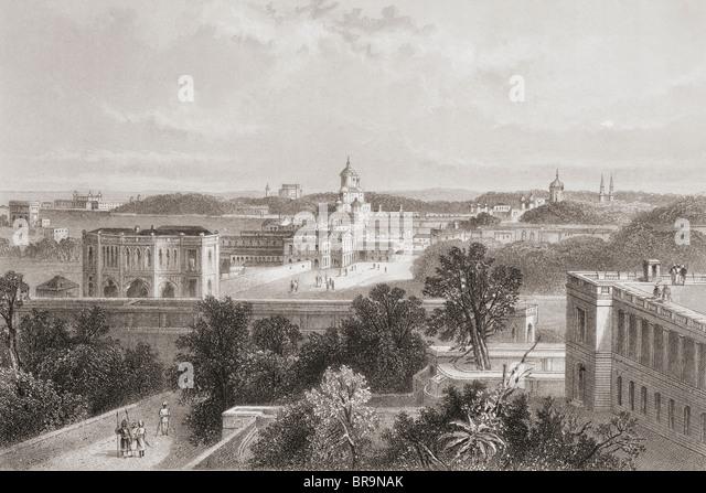 Lucknow, Indien, aus einem 19. Jahrhundert drucken. Stockbild