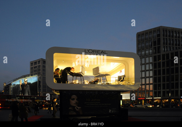 L ' Oreal, Sponsor der Berlinale 2008, Berlin, Deutschland Stockbild
