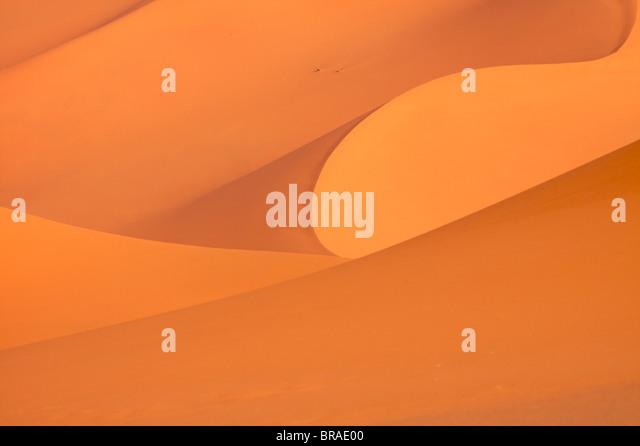Die Dünen des Erg Murzuk in Fezzan Wüste, Libyen, Nordafrika, Afrika Stockbild