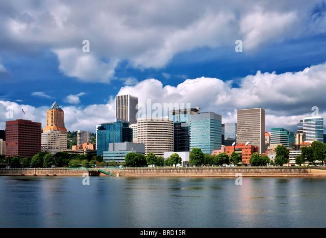 Skyline von Portland, Oregon. Stockbild