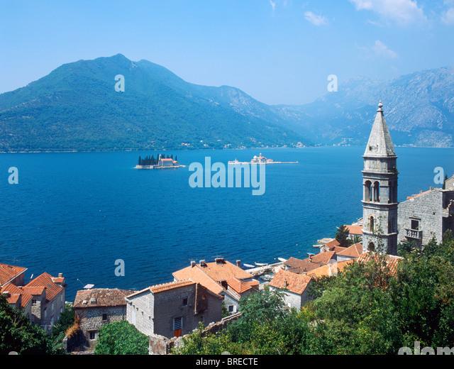 Perast, Bucht von Kotor, Montenegro Stockbild