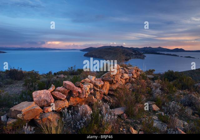Isla del Sol, Titicacasee, Bolivien Stockbild