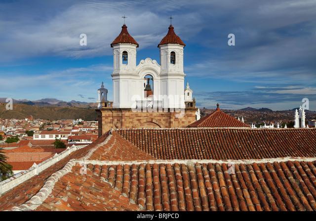 Dächer in Sucre, Bolivien Stockbild