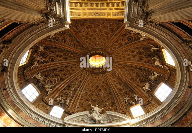 Rom. Italien. Berninis barocke Kirche Sant' Andrea al Quirinale. Stockbild