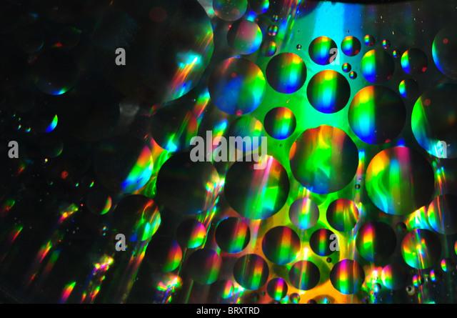 Öl und Wasser abstrakte Kunst Stockbild