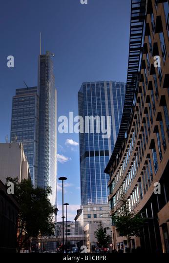 Heron-Tower (L), 99 Bishopsgate (C) und Deutsche Bank London Hauptsitz (R), London, UK Stockbild
