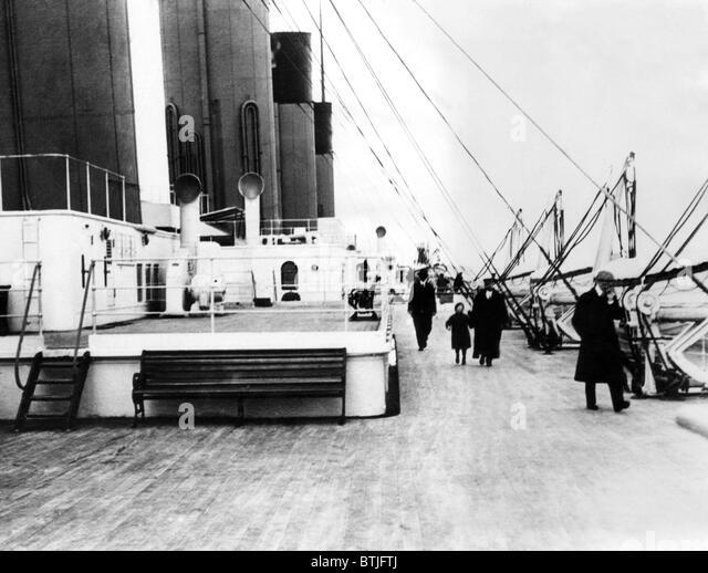RMS Titanic, die nach der Kollision mit eines Eisbergs auf seiner Jungfernfahrt 1912 sank. Stockbild
