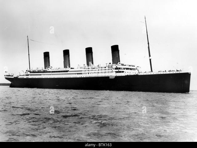 Die Titanic vor dem ill-fated Reise, 1912. Stockbild
