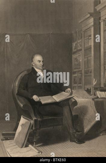 John Quincy Adams (1767-1848), Präsident der Vereinigten Staaten von 1825-1829. Seine amerikanische System Stockbild