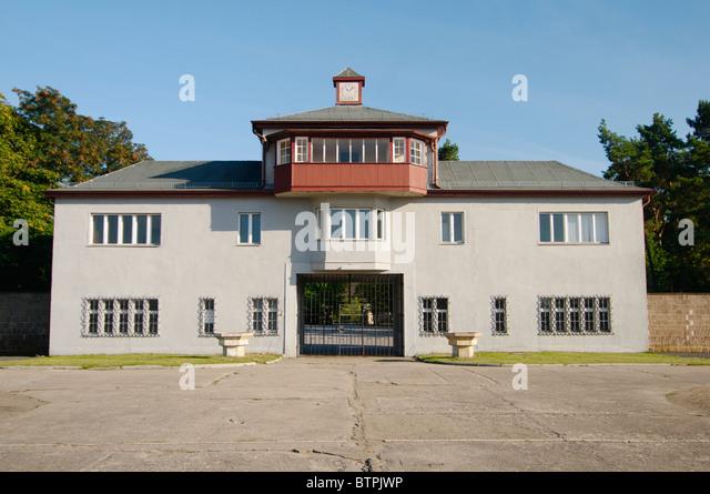 Deutschland, Brandenburg, Oranienburg, KZ Sachsenhausen Stockbild