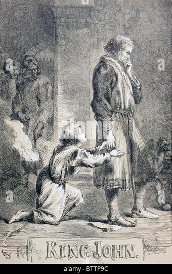 Illustration von Sir John Gilbert für König Johann von William Shakespeare. Stockbild