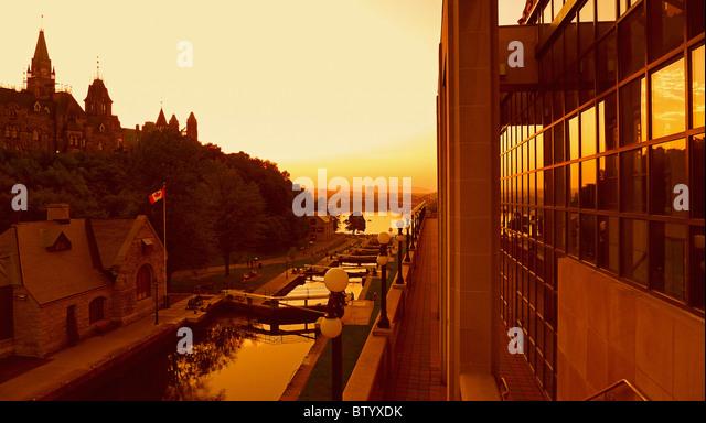Kanadische Städte, Rideau-Kanal, Ottawa Ontario Kanada. Stockbild