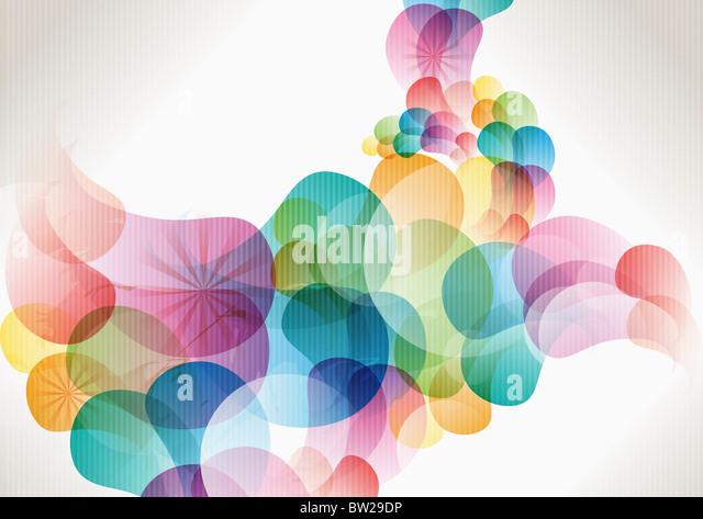 bunte eingekreisten Muster Stockbild
