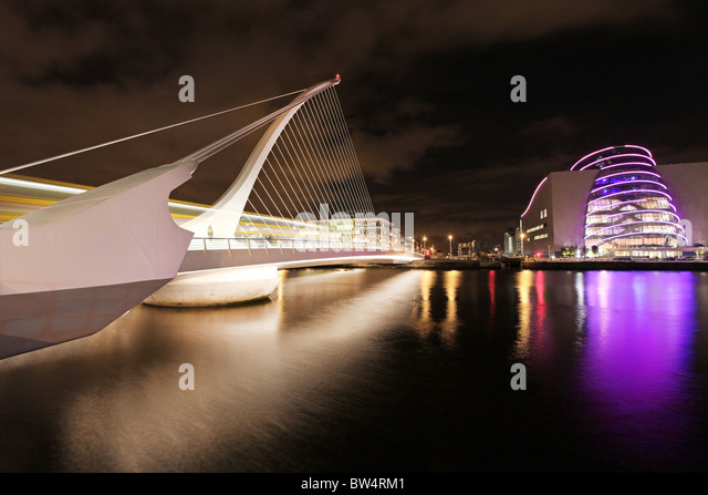 Samuel Beckett Bridge, Dublin. Stockbild