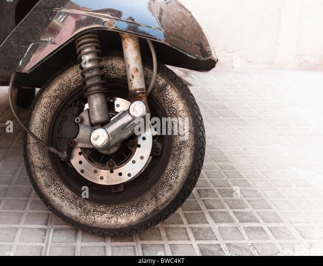 Altes Moped-Rad Stockbild