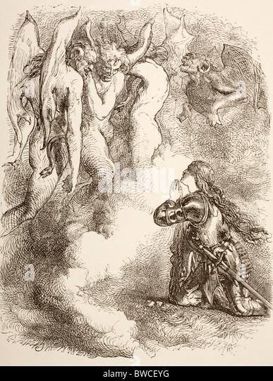 Joan La Pucelle oder Joan of Arc Unholde Verzicht auf ihr König Henry VI, Teil I von William Shakespeare Stockbild