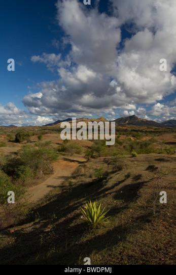 Vohemar - Ambilobe Road, Madagaskar Stockbild