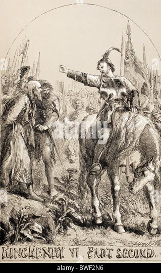 Illustration für König Henry VI, Teil zwei von William Shakespeare. Stockbild
