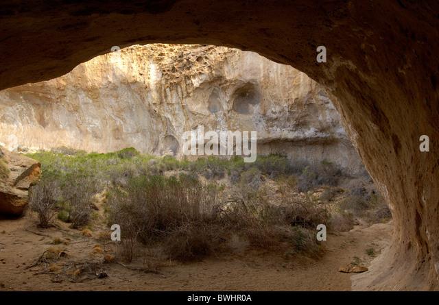 Felsenhöhle Kunst Gemälde Estancia la Maria Patagonien Argentinien Südamerika Stockbild