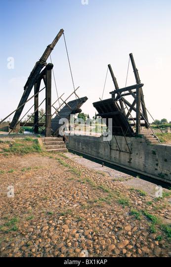 19. Jahrhundert Provence Van Gogh in Arles Zugbrücke Frankreich Europa Langlois-Brücke Pont de Langlois Stockbild