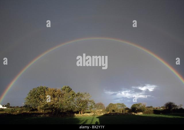 Regenbogen, Connemara, County Galway, Irland Stockbild