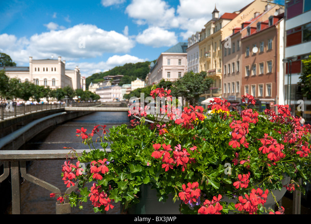 Wasserkanal in Karlovy Vary/Karlsbad. Tschechische Republik - Stock-Bilder