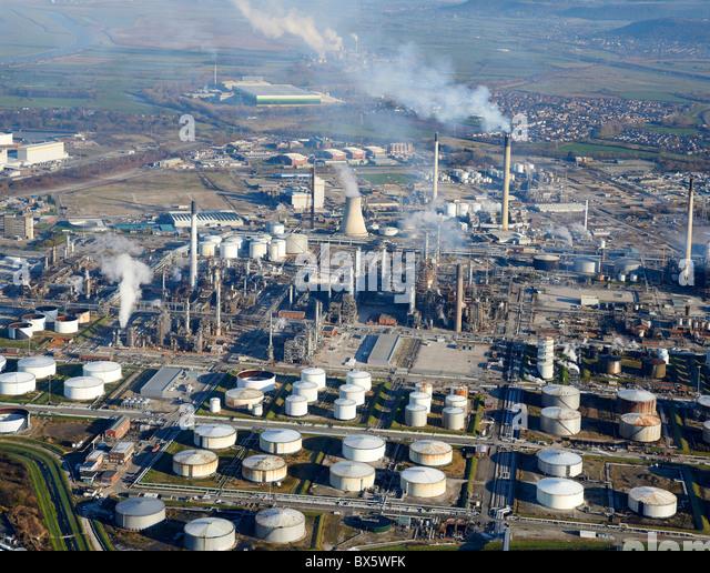 Öl-Raffinerie, Stanlow, Ellesmere Port, North West England Stockbild