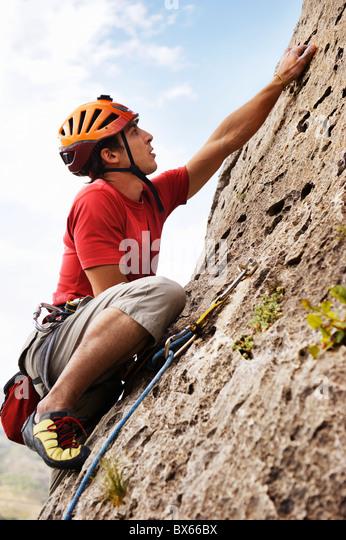 Klettern Stockbild
