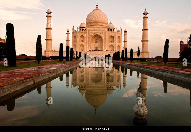 Taj Mahal ein Wahrzeichen in Indien Stockbild