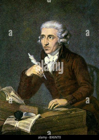 Haydn, Joseph, 31.3.1732 - 31.5.1809, österreichischer Komponist, Porträt, print nach Gemälde von Stockbild