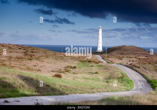 Leuchtturm Cape Wickham auf King Island, Australien. Stockbild