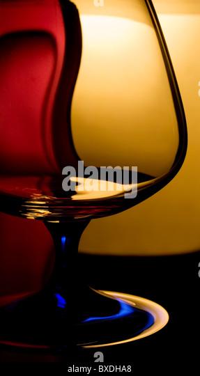das Glas in Farbe Licht Stockbild