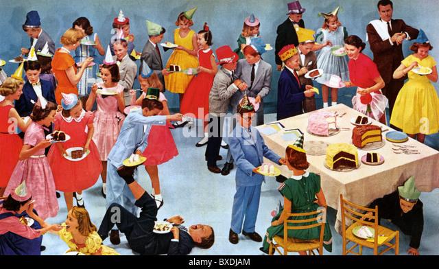 1950ER JAHREN US-KINDERFEST Stockbild