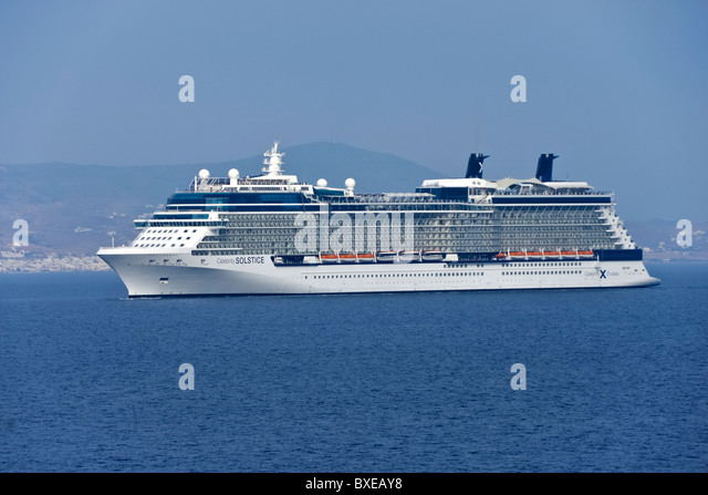 Celebrity Cruises Kreuzfahrtschiff Celebrity Solstice ab Kusadasi Türkei im östlichen Mittelmeer Kreuzfahrt Stockbild