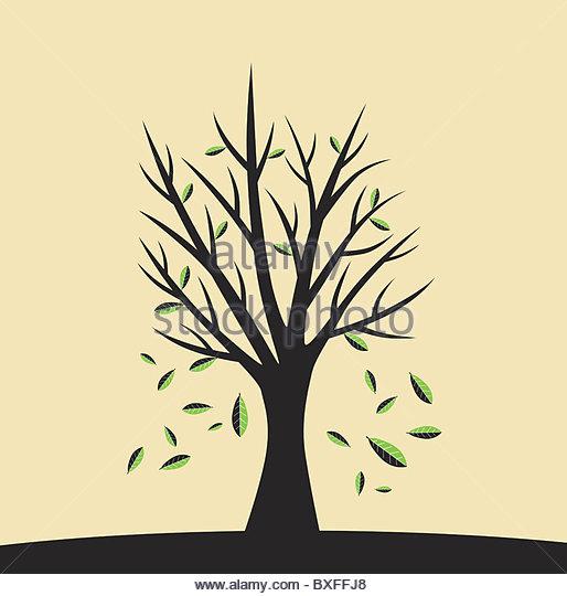 Fallende Blätter Abbildung Stockbild