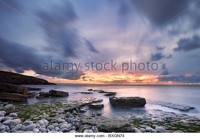Dunraven Bay, South Glamorgan, Wales, UK Stockbild