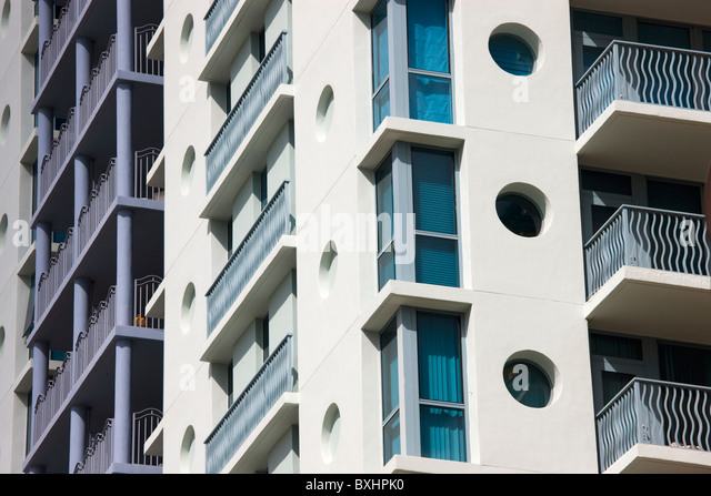 residential apartment building blue balconies stockfotos. Black Bedroom Furniture Sets. Home Design Ideas
