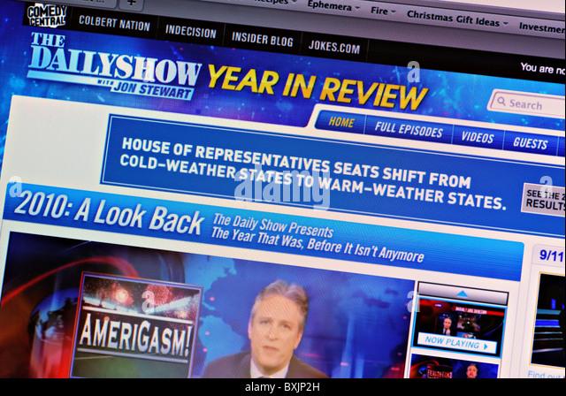 Daily Show mit Jon Stewart Webseite Stockbild