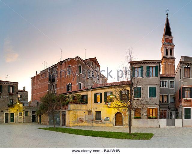 Campo Celestia Sestriere Castello Venedig Italien Stockbild