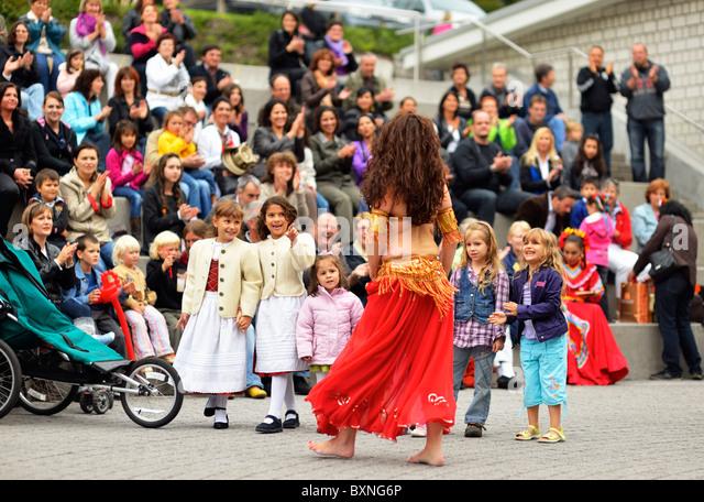 Das 2. Festival der Kulturen, Gasometer Triesen, Liechtenstein FL Stockbild