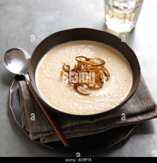 Karamellisierten Zwiebelsuppe Stockbild