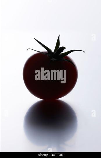 Tomaten-silhouette Stockbild