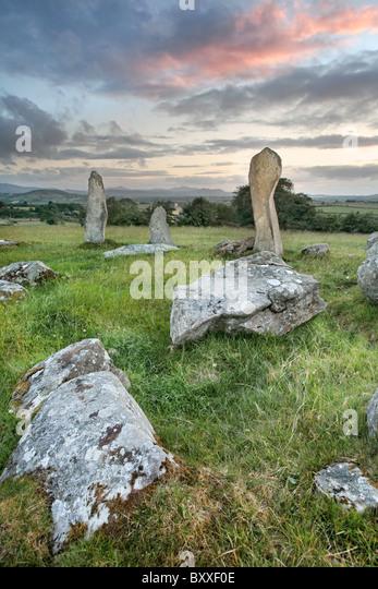 Bocan Stone Circle, Inishowen, Co. Donagel, Irland Stockbild