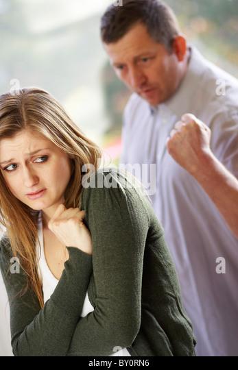 Paar häuslicher Gewalt Stockbild