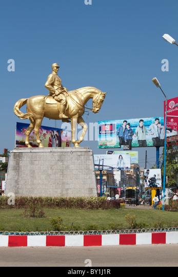 Aung San statue Stockbild